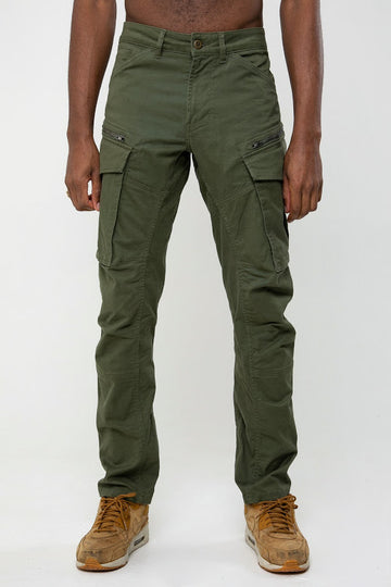 Porter Tech Utility Cargo Pants In Army Green - DML Jeans