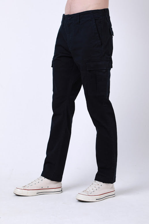 Wade Utility Cargo Pant In Navy - DML Jeans