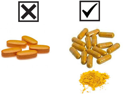 Turmeric capsules are better than tablets