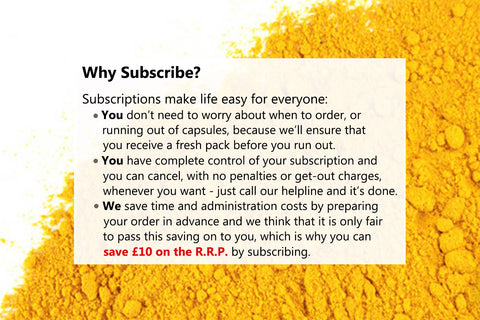 Turmeric capsules on subscription from Active650