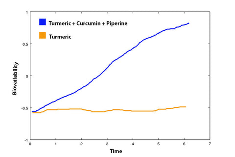 Piperine increases absorption of Active650 turmeric and curcumin
