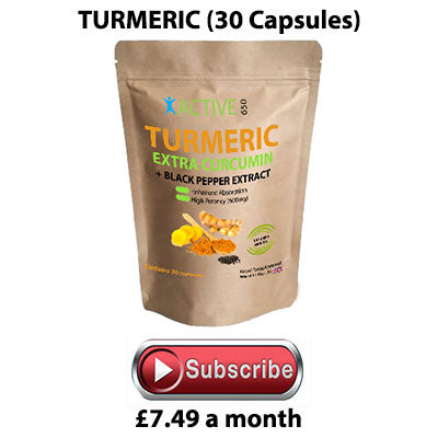 Active650 turmeric capsules with extra curcumin and piperine for increased absorption
