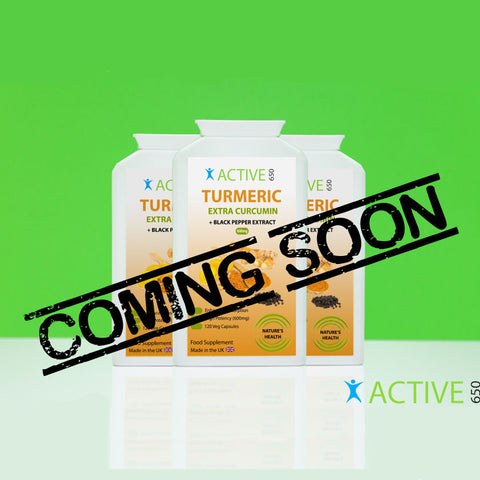 Active650 turmeric with added curcumin for arthritis and joint pain