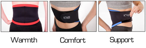 Active650 Back Support for warmth, comfort and support