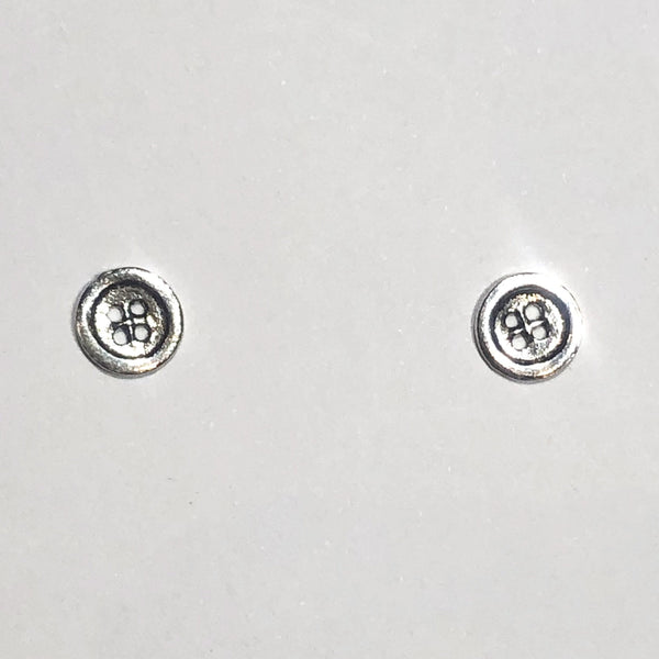 Sterling silver button studs
