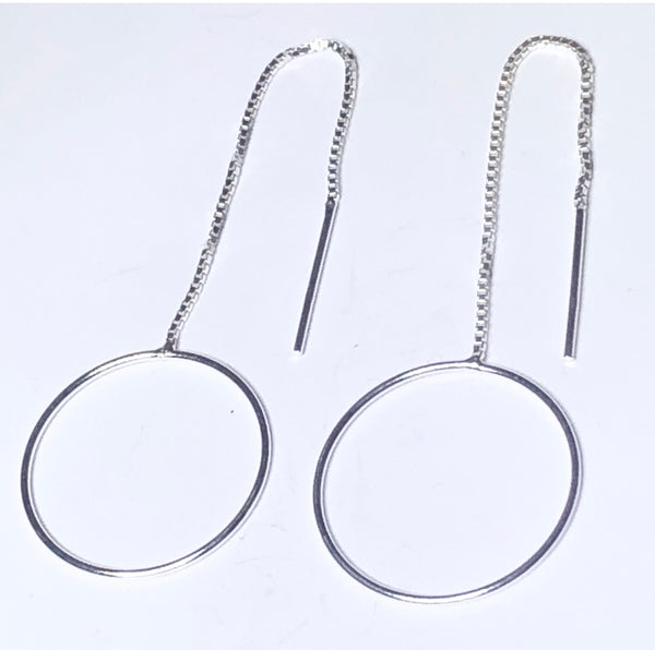 Single ring threader earring