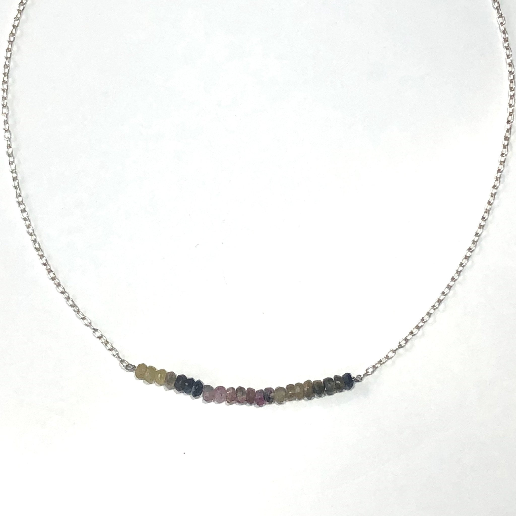 ombre tourmaline bead necklace