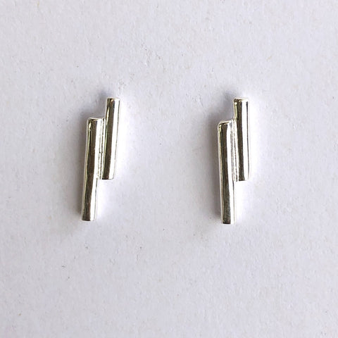 Double dash silver studs