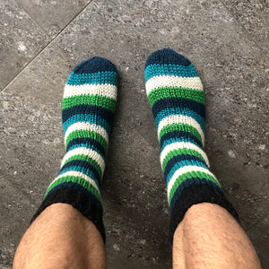 Wool striped house socks