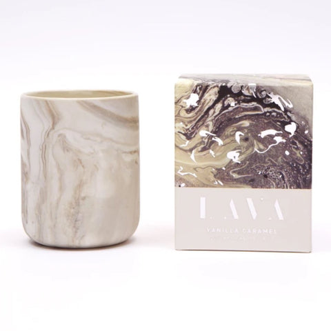 Vanilla Caramel Scented Marbled Candle 4 oz