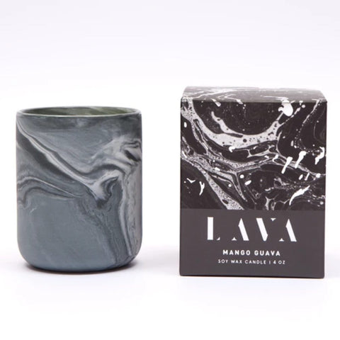 Mango Guava Scented Marbled Candle 4 oz