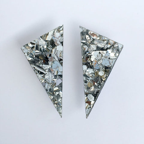 Alexis earrings - Silver sprinkles