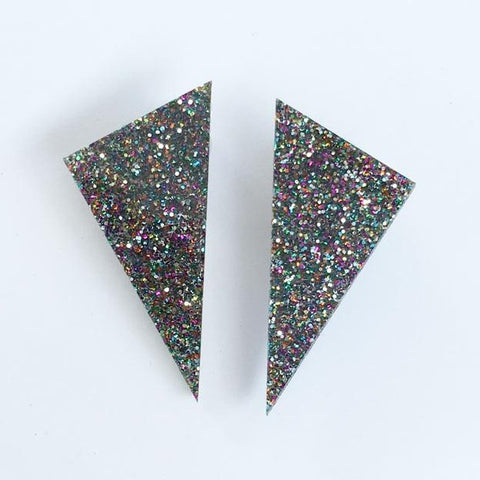 Alexis earrings - Disco dust