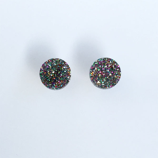 Circle stud - Disco Dust Small