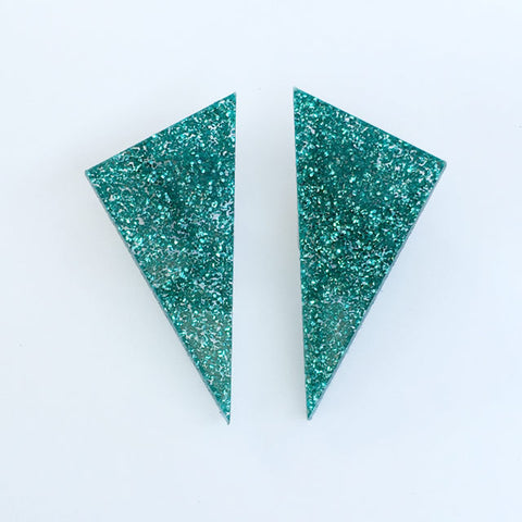 Alexis earrings - Green glimmer