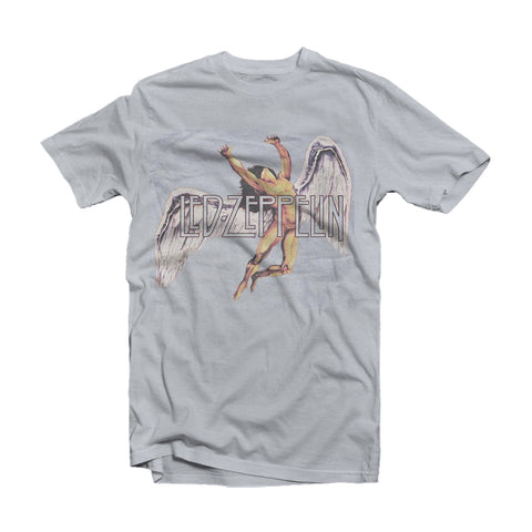 Led Zeppelin Grey T Shirt - Icarus