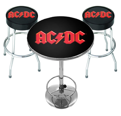 AC/DC Bar Table Set - Logo - PRE ORDER FOR JUNE 21