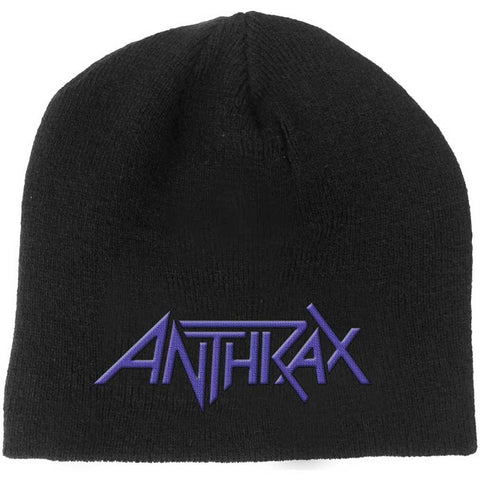 Anthrax Beanie Hat - 3D Embroidered Logo