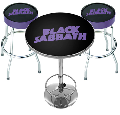 Black Sabbath Bar Table Set - Sabbath Bloody Sabbath