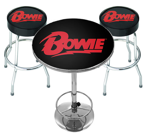 David Bowie Bar Table Set - Logo - PRE ORDER FOR JUNE 21
