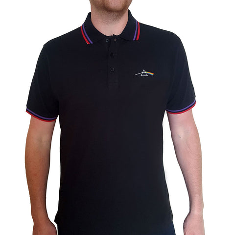 Pink Floyd Polo Shirt - Dark Side Of The Moon Prism