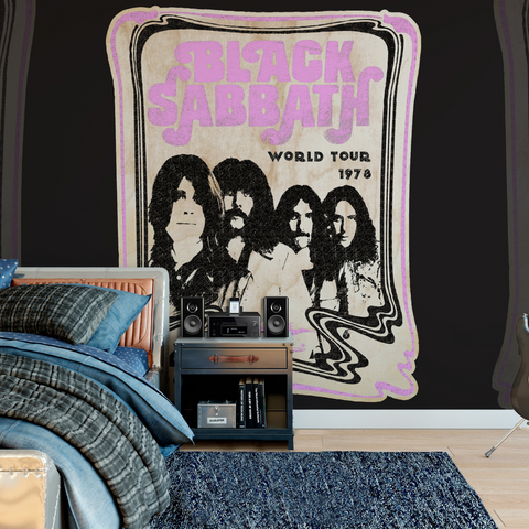 Black Sabbath Mural - Tour Poster