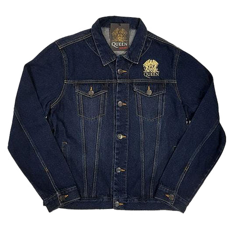 Queen Denim Jacket - Classic Crest (With Back Print)