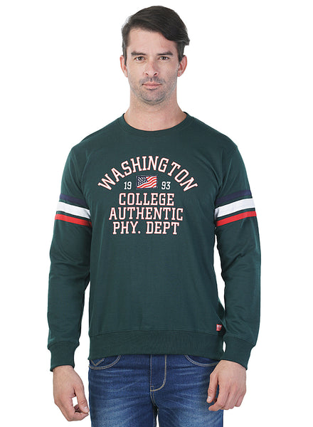 Griffel Full Sleeve Printed Men's Sweatshirt