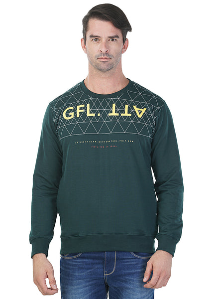 Griffel Full Sleeve Printed Men's Sweatshirt …