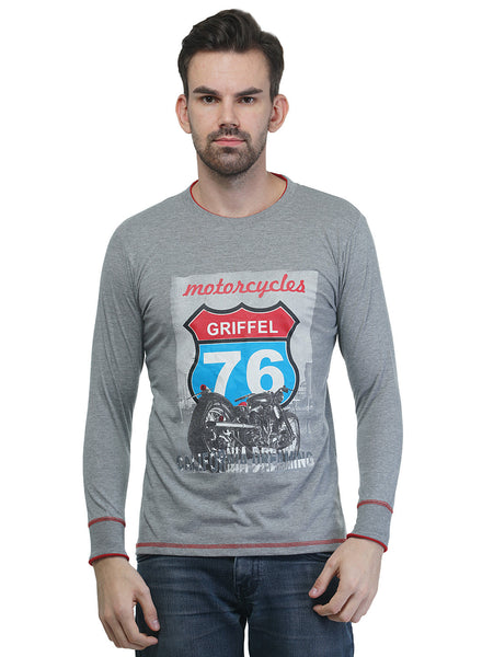 Griffel Printed Men's Full sleeve T-Shirt
