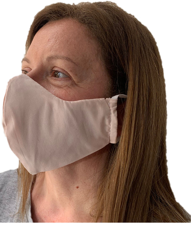 Mask from multi-purpose washable cotton with filter pocket and nose support Mk1/2-1abc