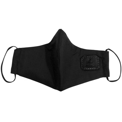 Mask from multi-purpose washable cotton with filter pocket and nose support Mk1/2-1color black