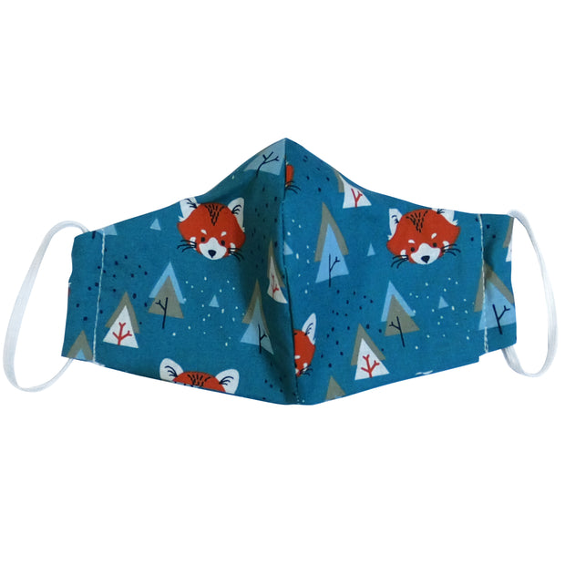 Colorful mask from multi-purpose washable cotton with filter pocket and nose support Mk1/2-1
