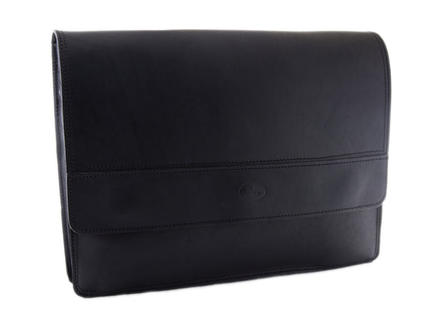"""Ersi"" - A4 office bag handcrafted from natural black leather WT/84"