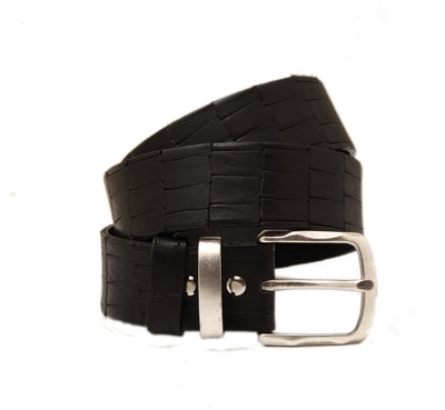 CB0001375 Handmade casual leather belt with relief design
