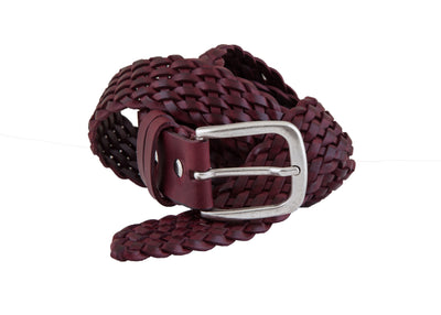 Knitted leather belt KB00001