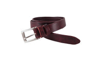 WW400/25 Premium belt in antic black&red leather