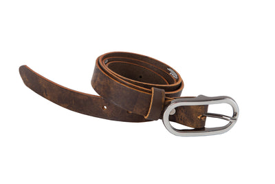 WW401/25 Premium belt in antique Green&Yellow leather