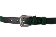WW403/25 Premium belt in antique Black&Green leather