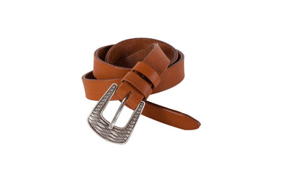 WW404/25 Belt in shiny  leather with clor ligth brown