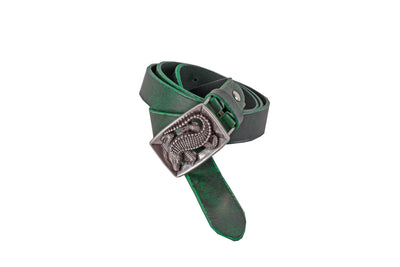 WW407/25 Premium belt in antique Black&Green leather