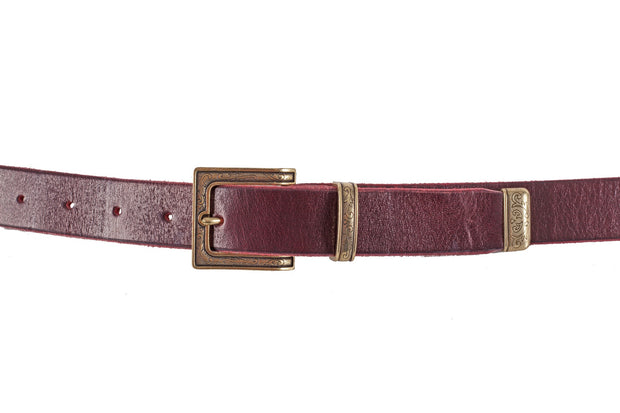 WW415/30 Premium belt in antique Red leathe