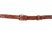 WW420/20 Belt in light brown color with relief design
