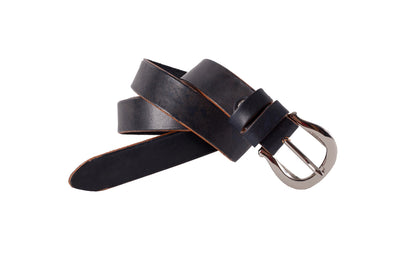 WW417/25 Premium belt in antique Black&Blue leather