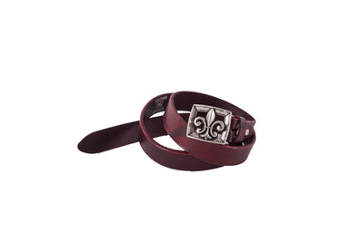 WW414/25 Premium belt in antique Black&Red leather