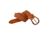WW418/25 Belt in camel color with relief design with an beautiful 2.5cm width buckle