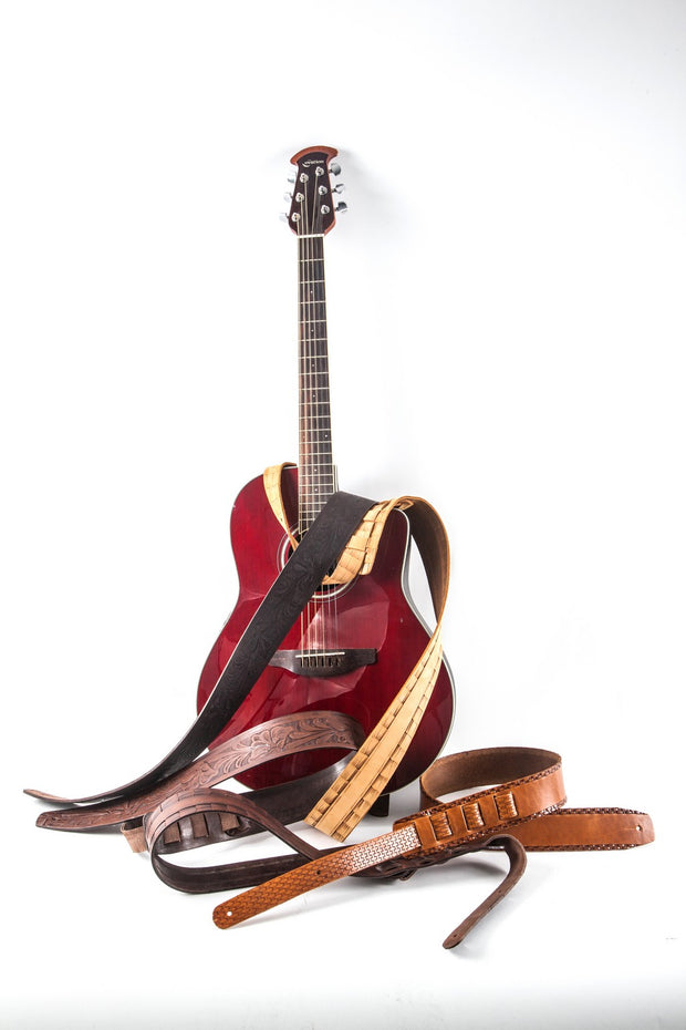 wlk146/6 leather guitar strap