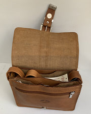 "Kalypso"" - small crossbody bag handcrafted from natural light brown leather WT/55F2FT"