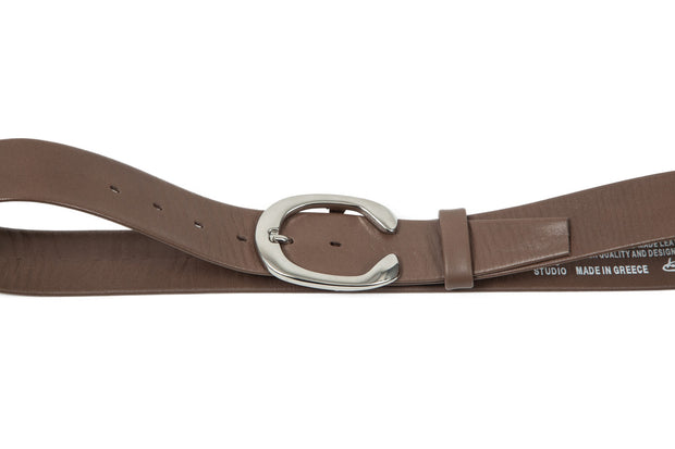 Women's 4cm wide belt handcrafted from soft leather ideal for dresses WB101294/40