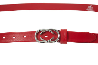 Women's thin belt handcrafted from red soft leather ideal for dresses WB101293/25